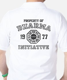 Property of Dharma Distressed Golf Shirt
