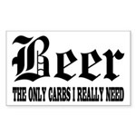Beer Rectangle Sticker