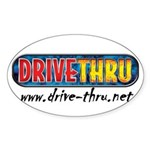 Drive Thru Oval Sticker