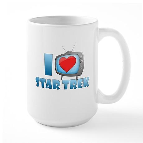 I Heart Star Trek Large Mug