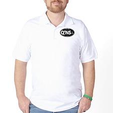 Qo'noS Black Oval T-Shirt
