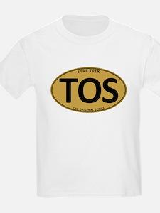 Star Trek: TOS Gold Oval T-Shirt