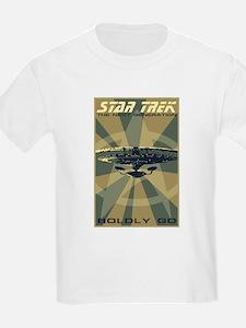 Retro Star Trek: TNG Poster T-Shirt
