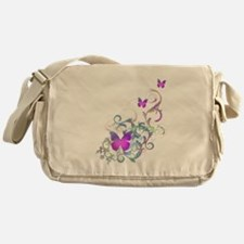 Bright Purple Butterflies Messenger Bag