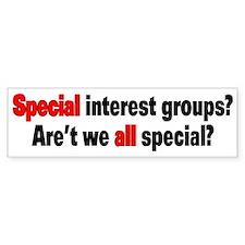 Special Interest Bumper Sticker