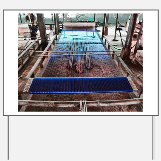 Cambodian Silk Loom Yard Sign