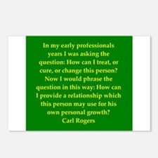 Carl Rogers quote Postcards (Package of 8)