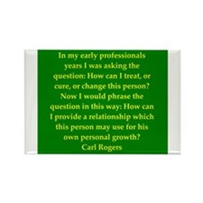 Carl Rogers quote Rectangle Magnet