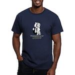 Stormtrooper Dog Men's Fitted T-Shirt (dark)
