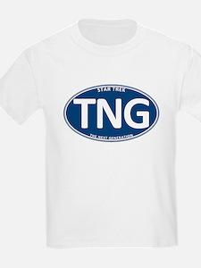 Star Trek: TNG Blue 2 Oval T-Shirt