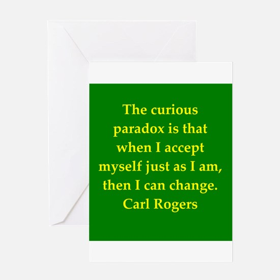 Carl Rogers quote Greeting Card