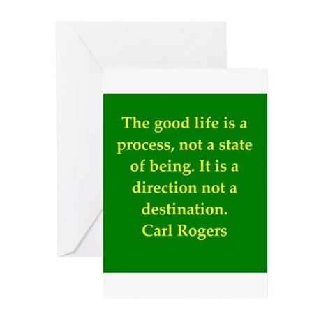 Carl Rogers quote Greeting Cards (Pk of 20)