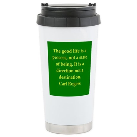 Carl Rogers quote Stainless Steel Travel Mug