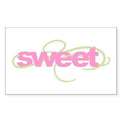 sweet Rectangle Sticker