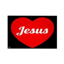 Jesus Loves Rectangle Magnet