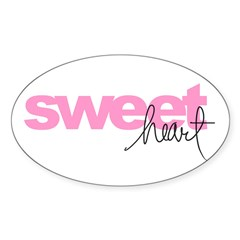 sweetheart Oval Sticker