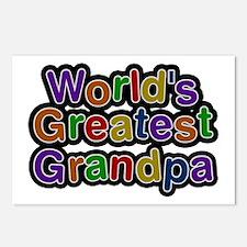 World's Greatest Grandpa Postcards 8 Pack