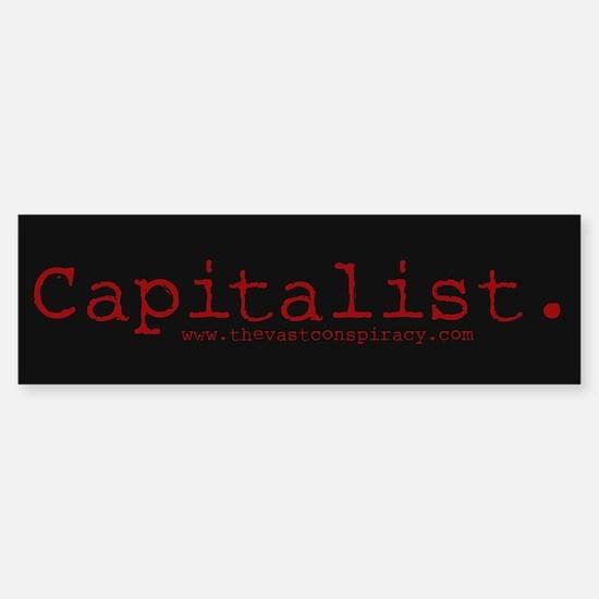 "Capitalist ""Classic"" (10x3 Sticker)"