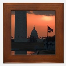 Capitol Sunrise Framed Tile