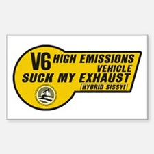 V6 (5x3 SUV Sticker)