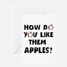 'Them Apples' Greeting Card