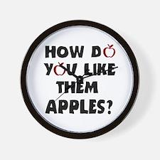 'Them Apples' Wall Clock