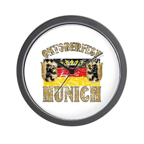 OKTOBERFEST Munich Distressed Wall Clock