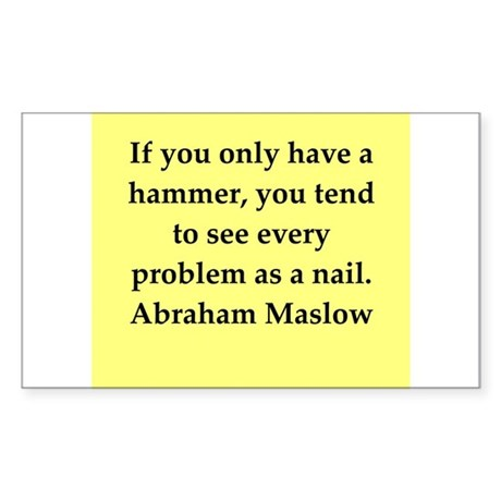 Abraham Maslow quotes Sticker (Rectangle)