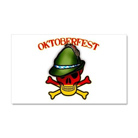 Oktoberfest Skull & Crossbones Car Magnet 20 x 12