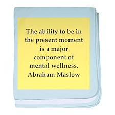 Abraham Maslow quotes baby blanket