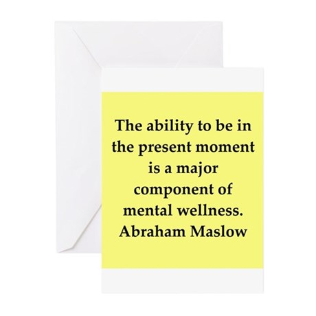Abraham Maslow quotes Greeting Cards (Pk of 20)