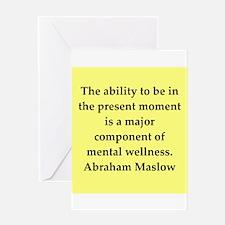 Abraham Maslow quotes Greeting Card