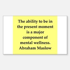 Abraham Maslow quotes Decal