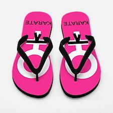 Karate Black Belt Female Flip Flops