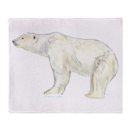 polar bear night Throw Blanket