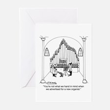 Not The Organist We Wanted Greeting Cards (Pk of 1