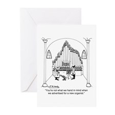 Not The Organist We Wanted Greeting Cards (Pk of 2