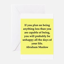 Abraham Maslow quotes Greeting Cards (Pk of 10)