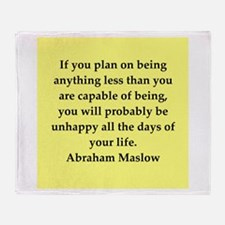 Abraham Maslow quotes Throw Blanket