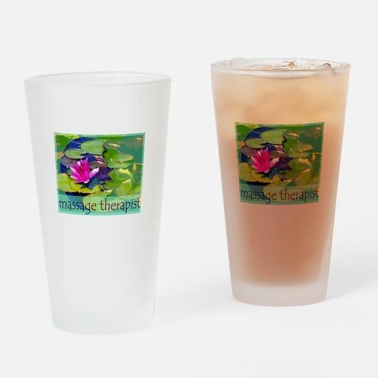 Massage Therapist / Waterlily Drinking Glass