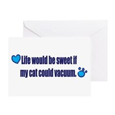 If My Cat Could Vacuum Greeting Card