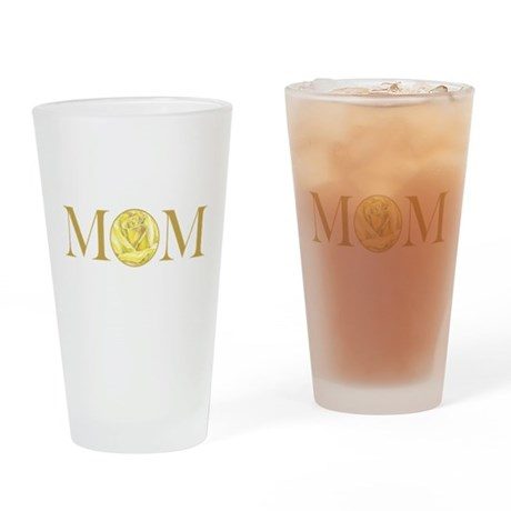 MOM yellow rose Drinking Glass