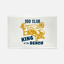 300 Club Bench Press Rectangle Magnet