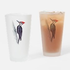 handsome pileated woodpecker Drinking Glass