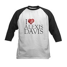 I Heart Alexis Davis Kids Baseball Jersey