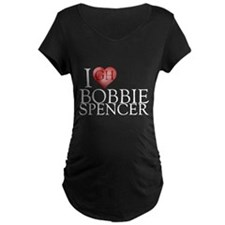 I Heart Bobbie Spencer Maternity Dark T-Shirt