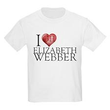 I Heart Elizabeth Webber Kids Light T-Shirt