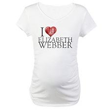 I Heart Elizabeth Webber Maternity T-Shirt