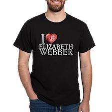 I Heart Elizabeth Webber Dark T-Shirt
