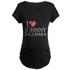I Heart Johnny Zacchara Maternity Dark T-Shirt